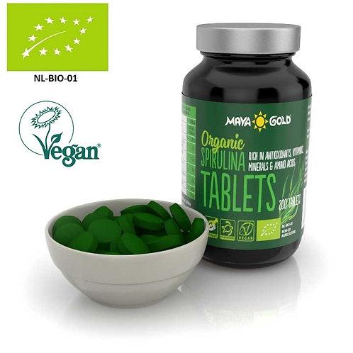 SPIRULINA organică (500mg) - 200 pastile