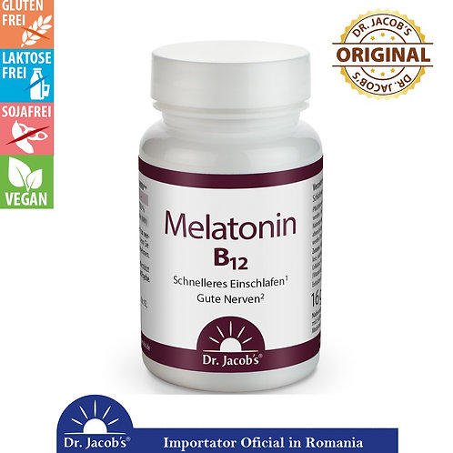 Melatonina cu B12 - 60 tablete (16gr)