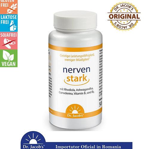 """""""Nervi Puternici"""" Rhodiola, Ashwagandha, Ganoderma, Bio-Vegan 100 cps"""