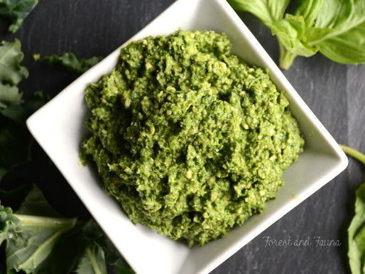 Raw/Vegan/Paleo - Pesto Kale