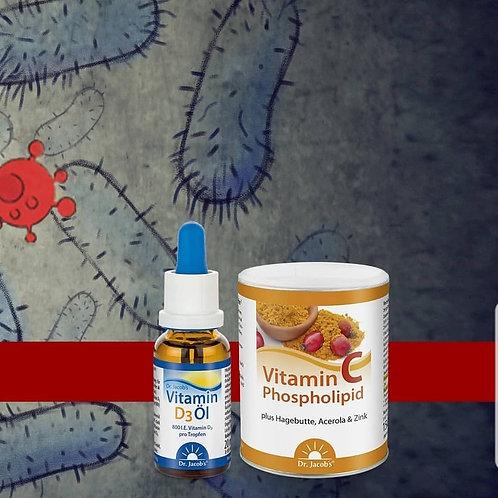 Pachet Vitamina C & D3Forte dr. Jacobs