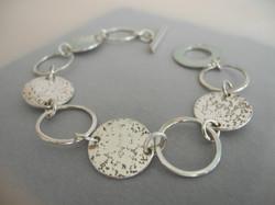 Silver Part Etched Bracelet