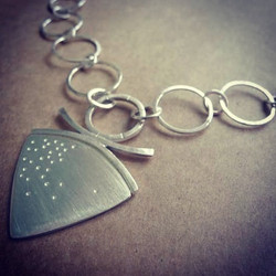 Silver Pendant and Chunky Cahin with Toggle Clasp