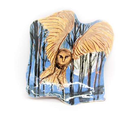 Forest Owl & Moon Dish