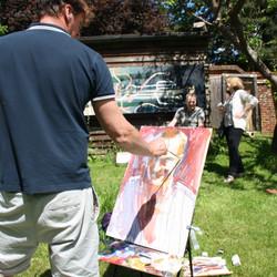 Tim painting