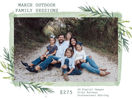 March Outdoor Sessions