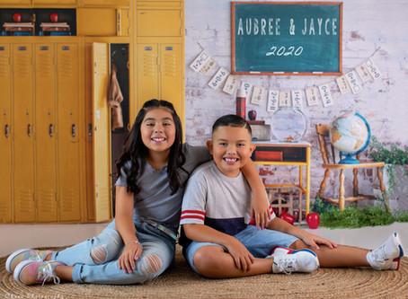 Aubree & Jayce School Photos