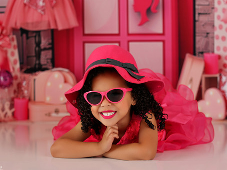 Ava as Barbie