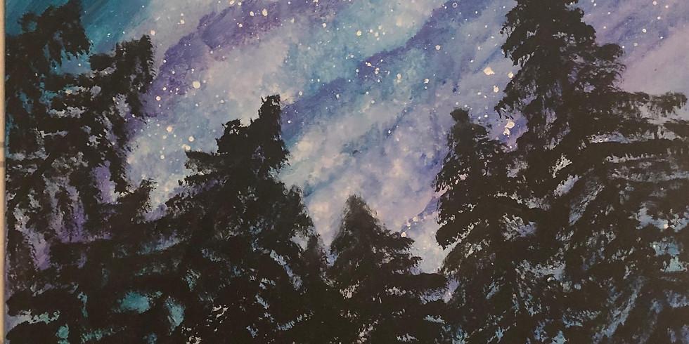 Northern Lights Paint & Sip