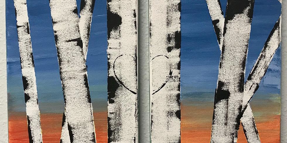 You & Me Aspen Trees - Paint & Sip