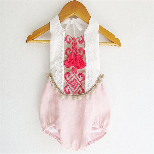 'Gracie' Girls Romper