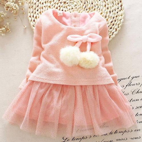 'Berry' baby girls dress