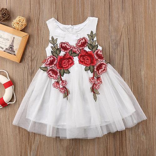 white rose  Girls Dress