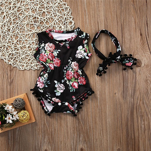 'Kendall' Baby Girls Romper