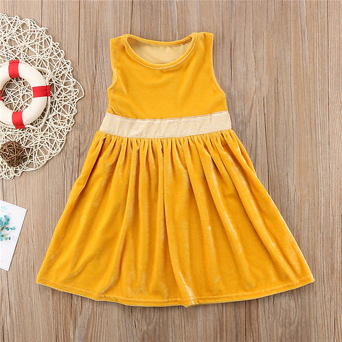 pure yellow Girls Dress 1-2 WEEK DELIVERY