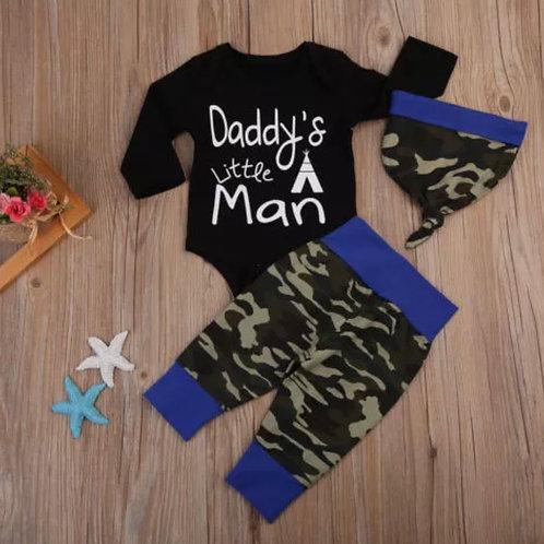 Daddy little man blue set F