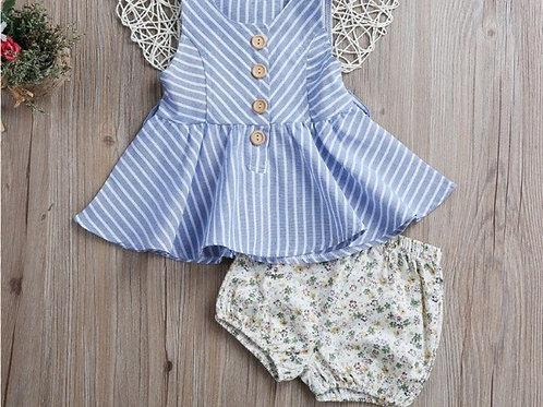 'Alba' Stripe dress Set O