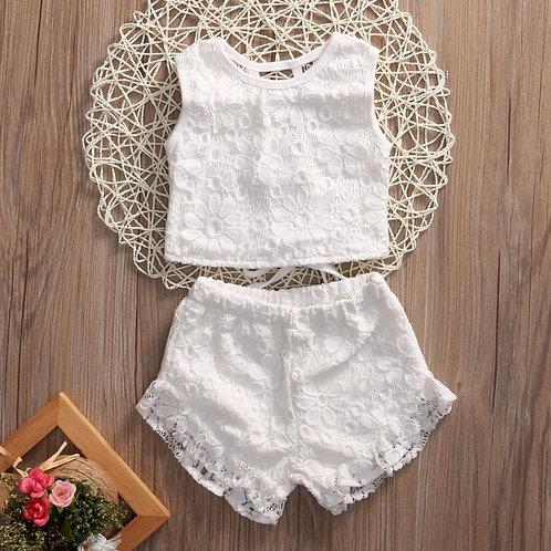'Sadie' Lace shorts Set