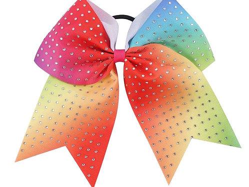 Rainbow hairband with bow