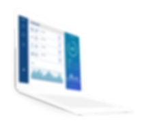 Illustrated Laptop displaying business analytics dashboard