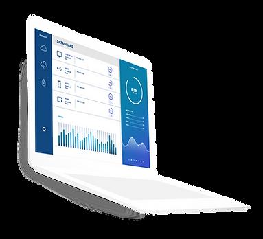 ein laptop mit statistiken auf bildschirm