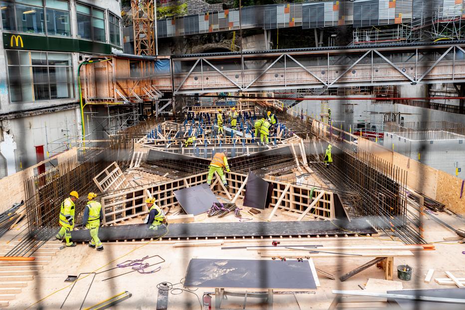 Stockholm, Slusses construction site