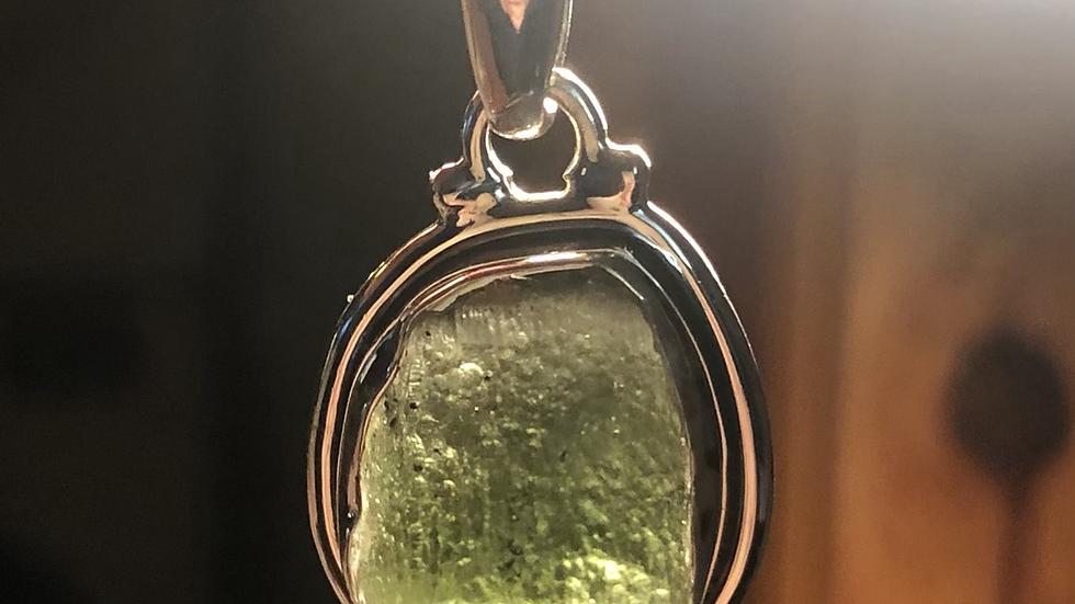 Moldavite Sterling Pendant