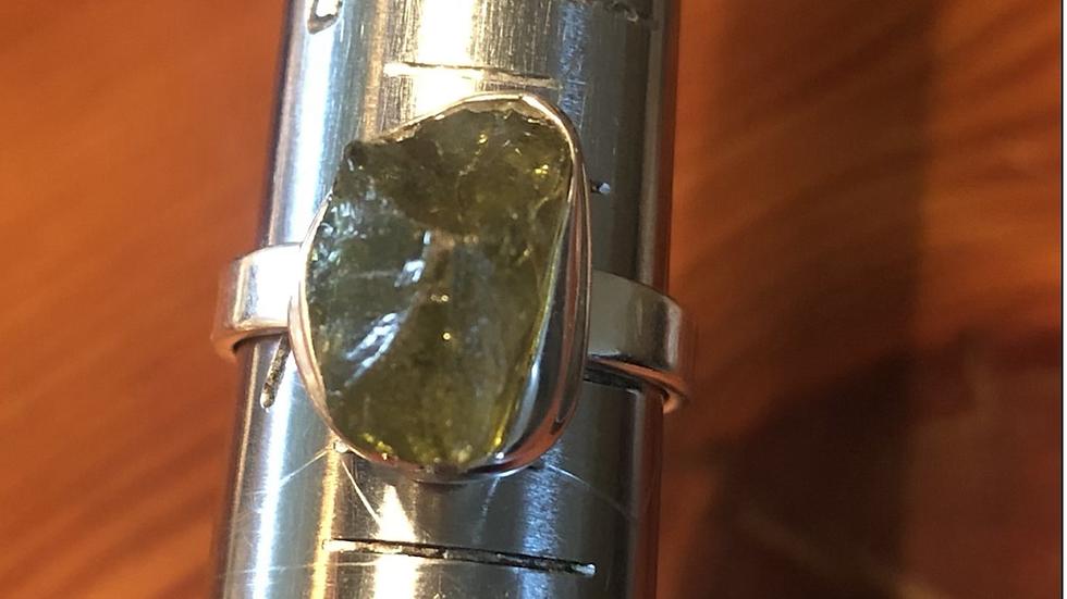 Moldavite Sterling Ring (7)
