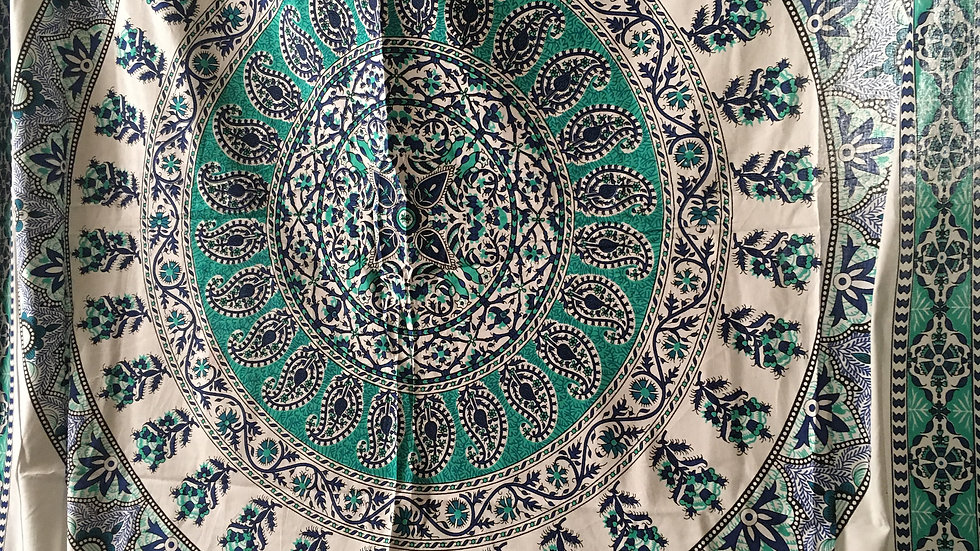 Sea GreenMandala Tapestry