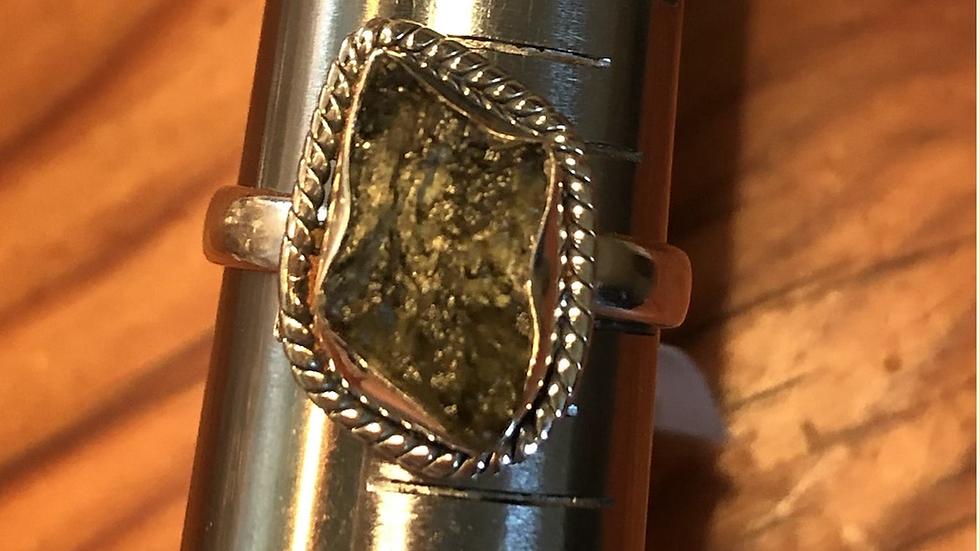 Moldavite Sterling Ring (10)