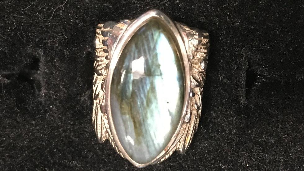 Labradorite Wing Ring