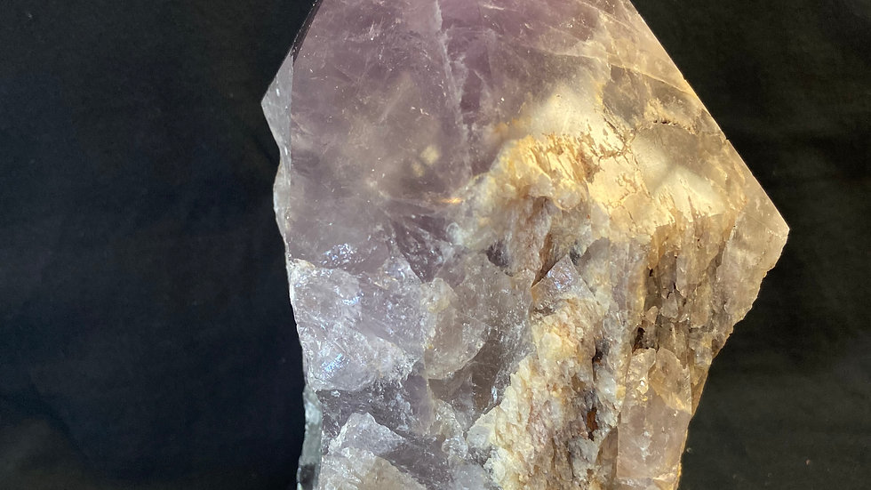 Amethyst Generator Raw with Polished Point XXL