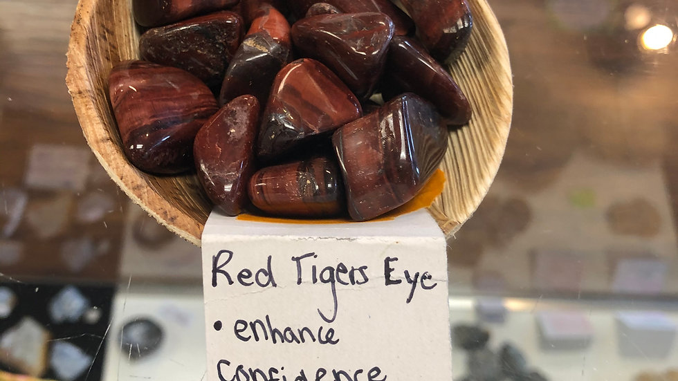 Tiger's Eye (Red) Tumbled Pocket