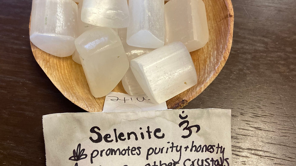 Selenite Tumbled Pocket