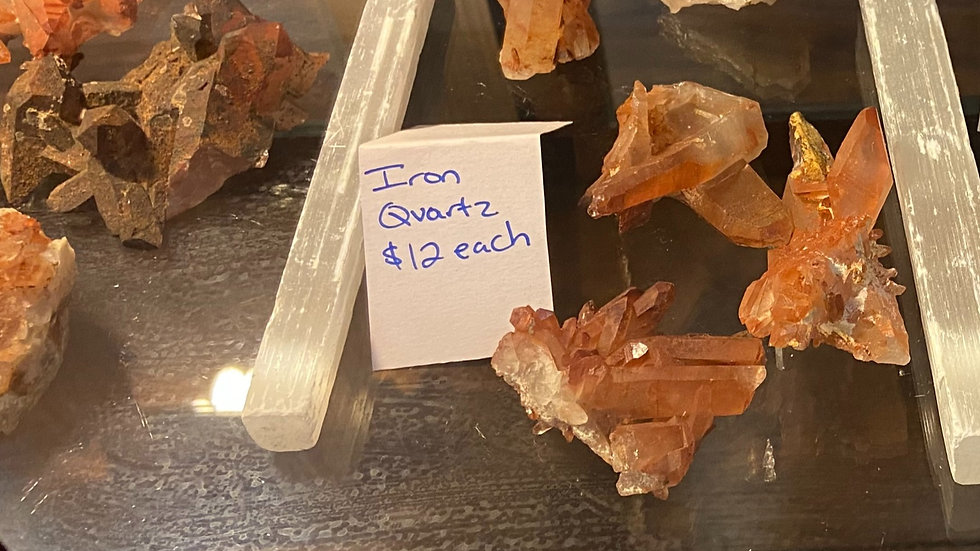 Quartz-Fire(Hematoid) Raw Clusters