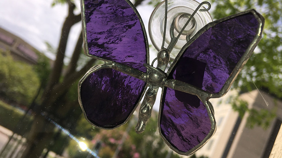 Small Butterfly Stained Glass