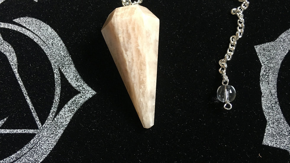 Peach Moonstone Pendulum