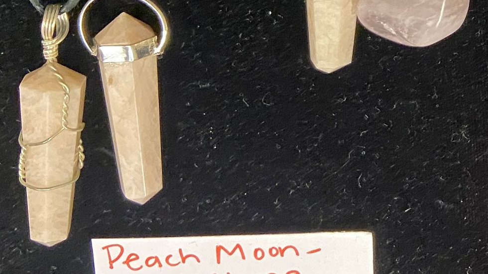 Peach moonstone pendants