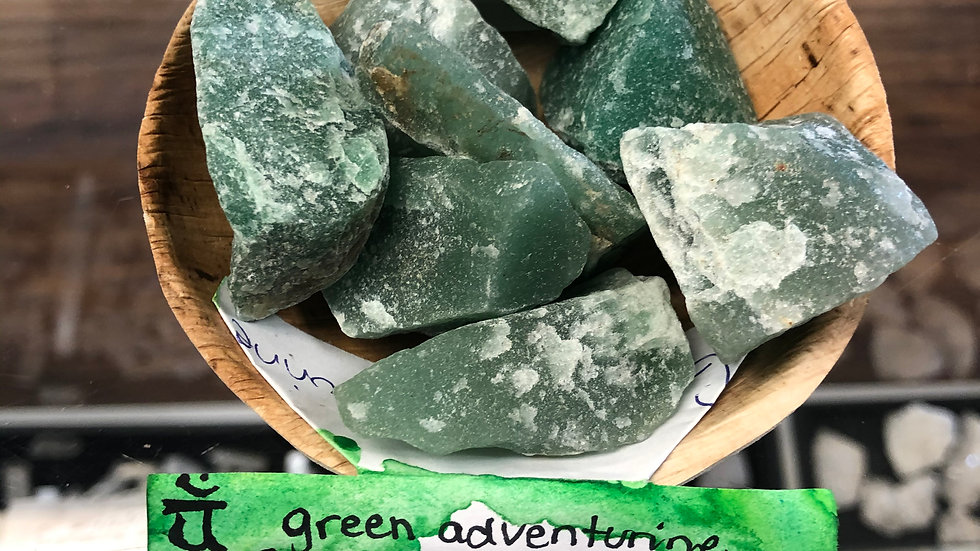 Aventurine- Green Raw Pocket