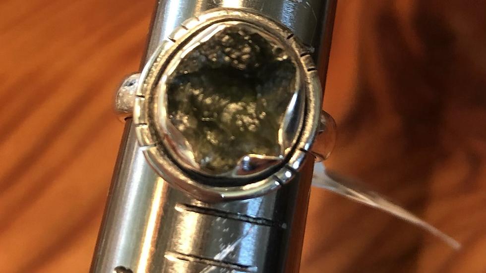 Moldavite Sterling Ring (6)