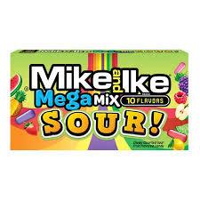 Mike & Ike Sour Mega Mix Theatre Box 5oz (V, VE)