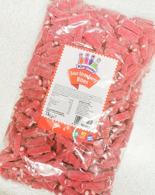 3kg Sour Strawberry Bites