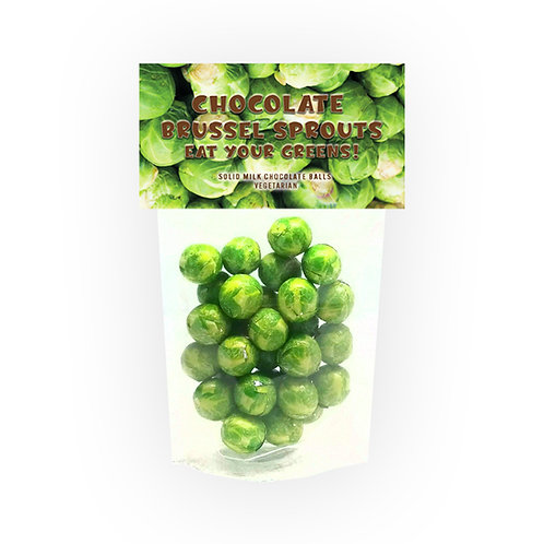 Chocolate Brussel Sprouts Novelty Bag