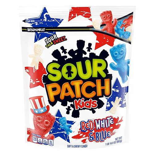 XL Bag Red, White & Blue Sour Patch Kids (V, VE)