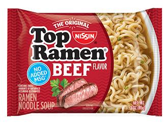 Nissin Top Ramen Beef
