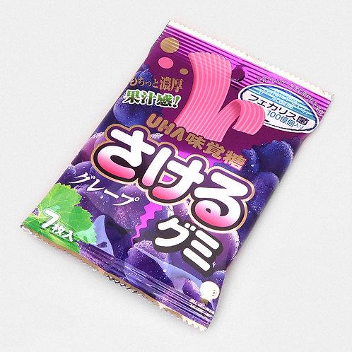 Sakeru Gumi Grape Flavoured Gummy Belts, 7 pieces