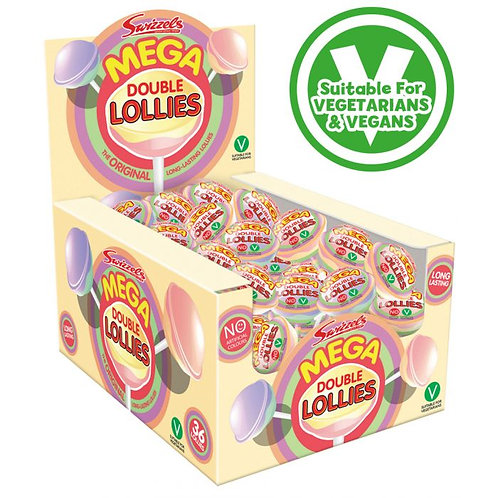 Swizzels Mega Double Lolly 32g (V, VE, GF)