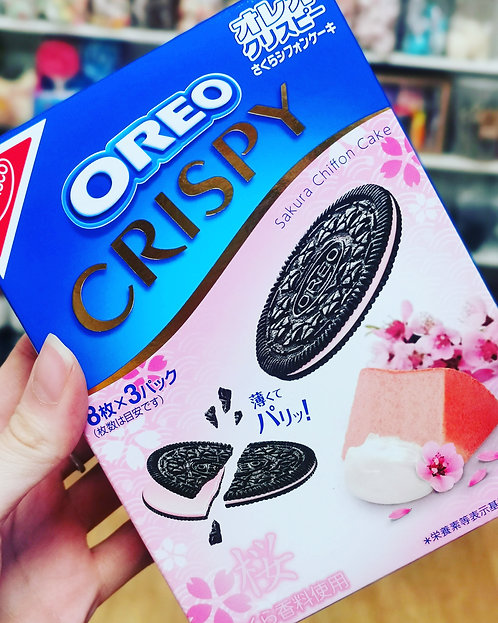 Oreo Crispy Sakura Chiffon Cake