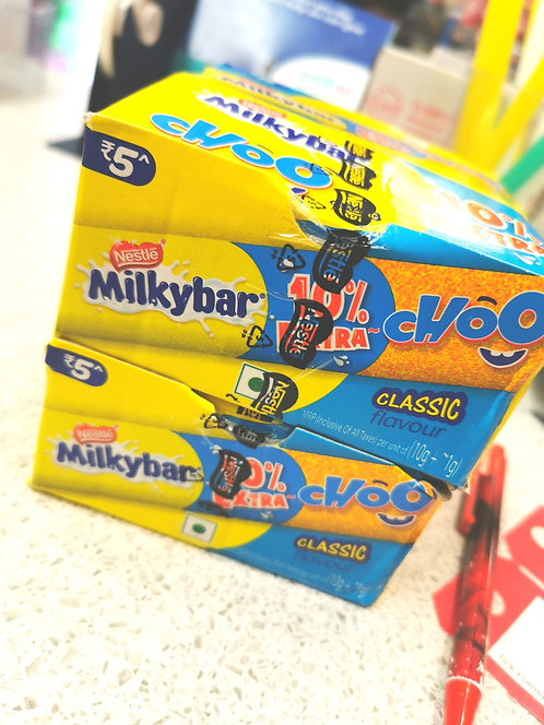 1x Full Box 28 Milkybar Choos
