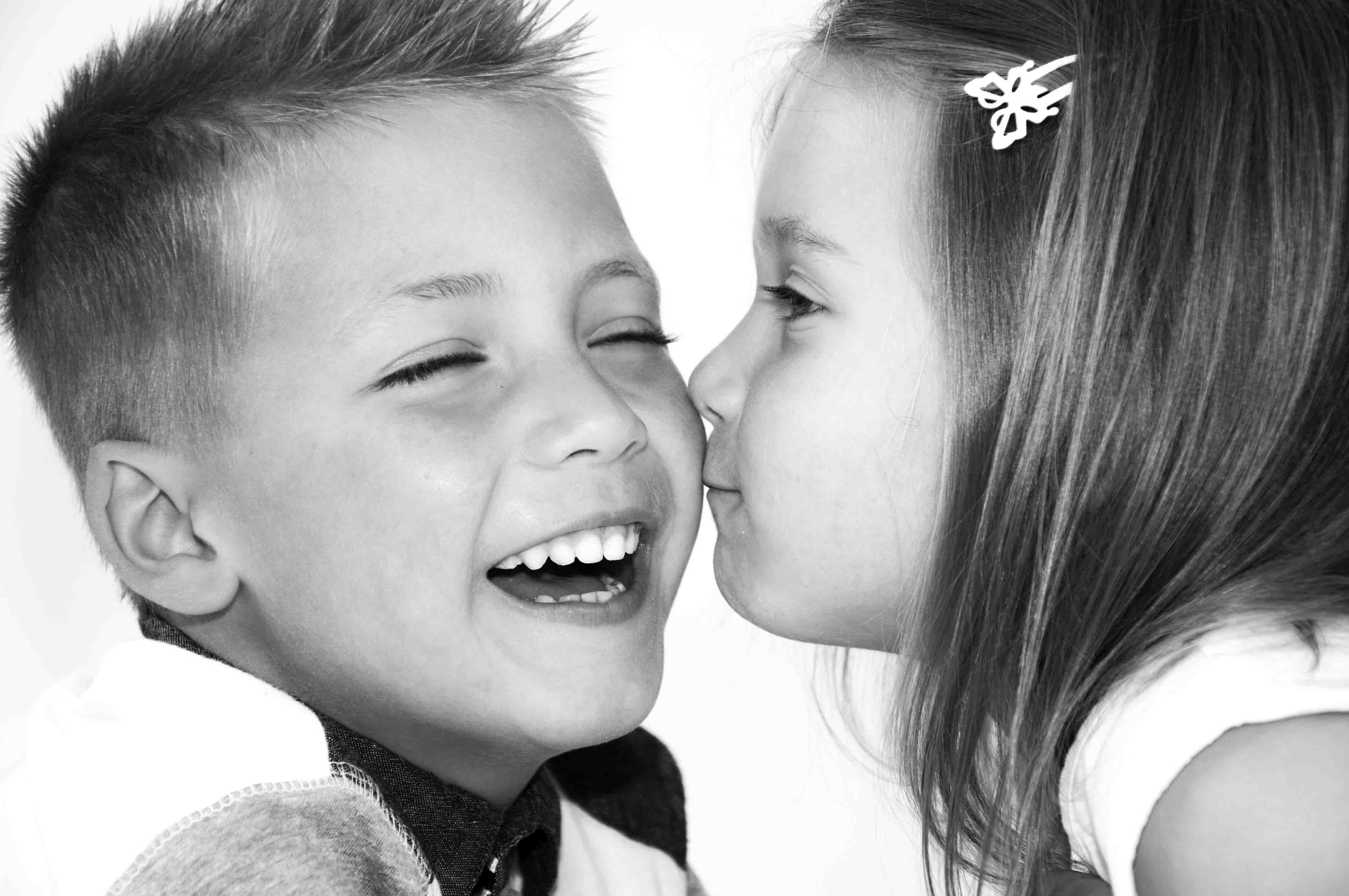 Sibling's kiss